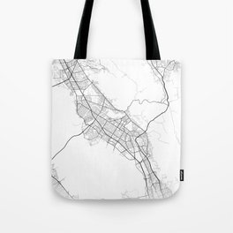 Minimal City Maps - Map Of Fremont, California, United States Tote Bag