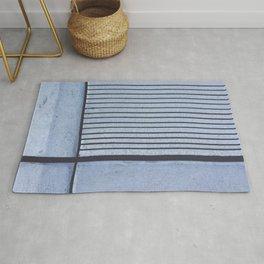 Concrete Stripe Blue Rug