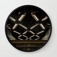 subway Wall Clocks featuring SUBWAY by paulmhoward