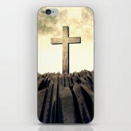 Christian Cross On Mountain iPhone Skin