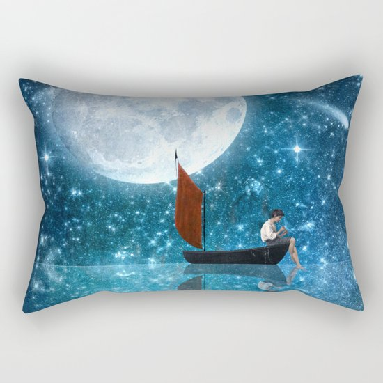 The Moon and Me v2 Rectangular Pillow