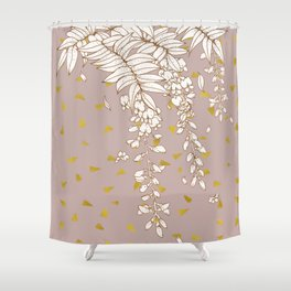 Wisteria in Gold Shower Curtain