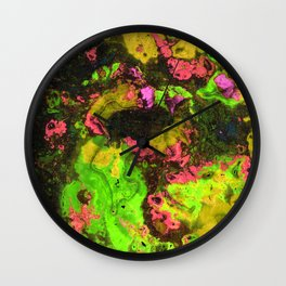 Rasta River Flow (Alcohol Inks Series 06) Wall Clock