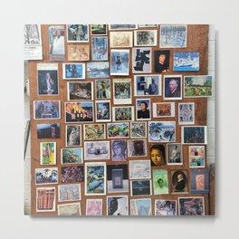 Wooden Postcard Wall Metal Print