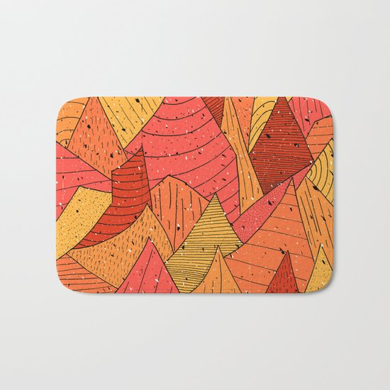 Pumpkin Slices Bath Mat