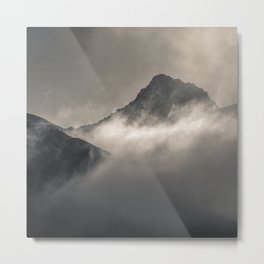 """Into the fog"". Foggy mountains Metal Print"