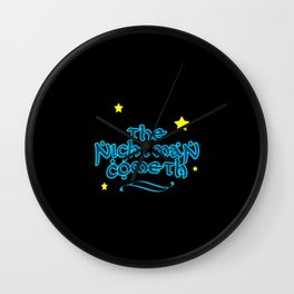 The Nightman Cometh Wall Clock