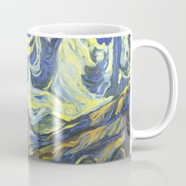 Les Praz church in Chamonix oil painting Coffee Mug