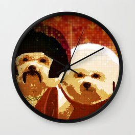 Disco-Dogs Wall Clock