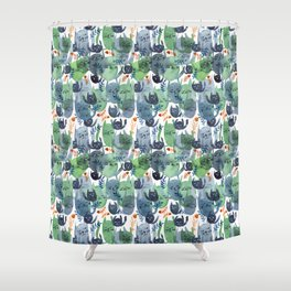 A Quiet Cacophony of Cats Shower Curtain