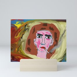 The tireless smoker Mini Art Print