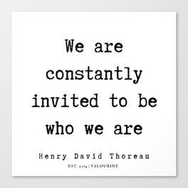 78     Henry David Thoreau Quotes    190715   Canvas Print