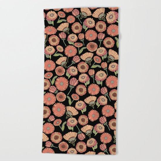 Vintage Florals Beach Towel