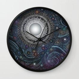 Feather Moon Wall Clock