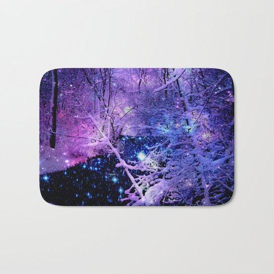 Cosmic River Galaxy Forest Bath Mat