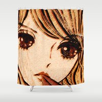 doll Shower Curtains featuring doll-like by Chandelina