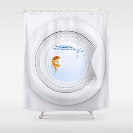 (Very) Clean Goldfish Shower Curtain