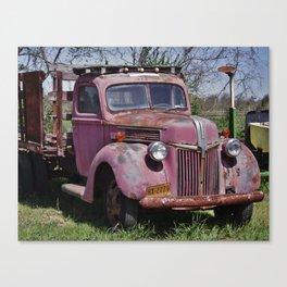 Truck on the farm  Canvas Print