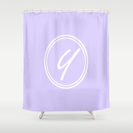 Monogram - Letter Y on Pale Violet Background Shower Curtain