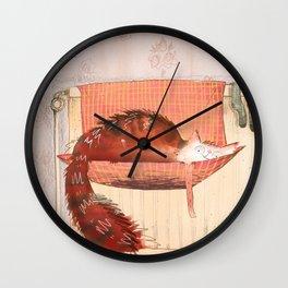 cat hammock Wall Clock