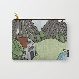 Cabin in the Mountains Carry-All Pouch