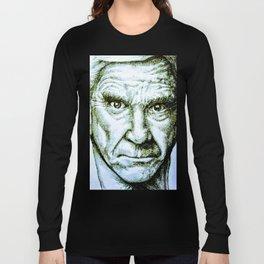 Leslie Nielsen fan art Long Sleeve T-shirt