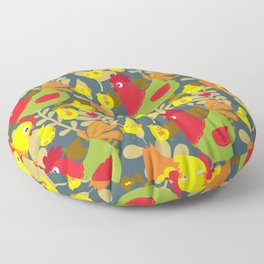 Chickens in the Farmyard Floor Pillow
