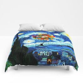 starry night flying jordan Comforters