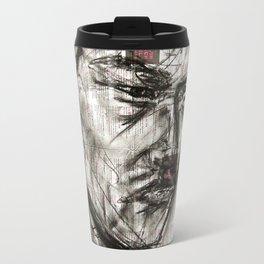 Warrior - Charcoal on Newspaper Figure Drawing Travel Mug