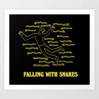 Falling with Snakes Art Print