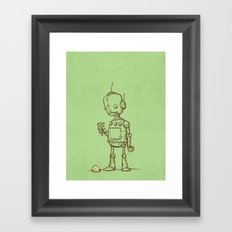 A Robot's Ice Cream Framed Art Print