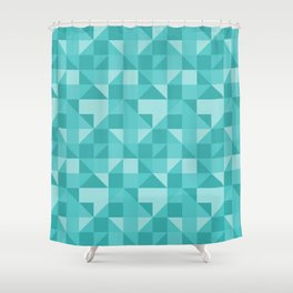 beautiful green geometric figures in the shape of modern triangles Shower Curtain
