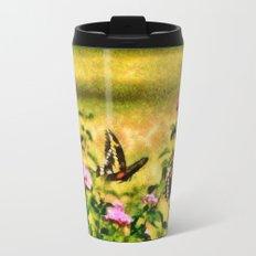 Three Giant Swallowtails - Monet Style Travel Mug