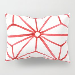 Red Star Watercolor Pillow Sham