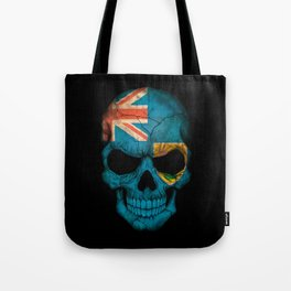 Dark Skull with Flag of Turks and Caicos Tote Bag