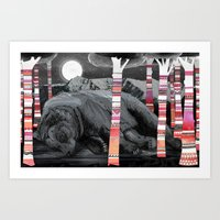 dreams Art Prints featuring Sweet Dreams Ursus Arctus  by Sandra Dieckmann