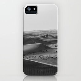 Black and White Hot Desert iPhone Case