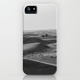 Black and White Hot Desert iPhone Case