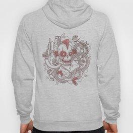 Skeleton & White Roses Hoody