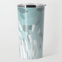Abstract Mosaic Pattern Travel Mug