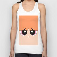 powerpuff girls Tank Tops featuring Blossom -The Powerpuff Girls- by CartoonMeeting
