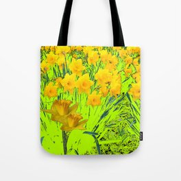 YELLOW SPRING DAFFODILS GARDEN Tote Bag