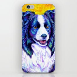 Colorful Border Collie Dog iPhone Skin