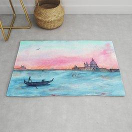 Love in Venice    watercolor Rug