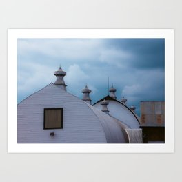 Dairy Barns at Creamers Field, Fairbanks Alaska Art Print