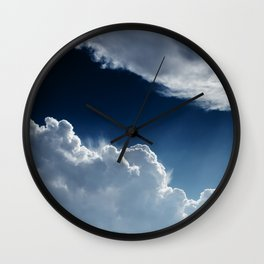 Sky, clouds and lights. Wall Clock