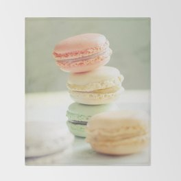 Pretty Macarons Throw Blanket