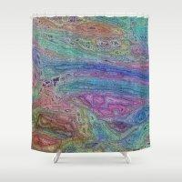 sofa Shower Curtains featuring Sahel Kazemi's Sofa by RingWaveArt