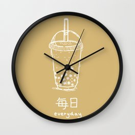 Bubble Tea/ Boba (mainichi) Wall Clock