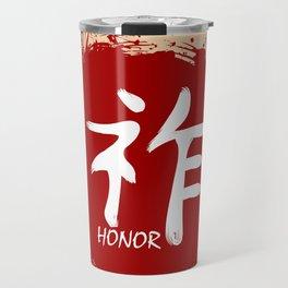 Japanese kanji - Honor Travel Mug